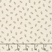 Flower Garden Gatherings Backgrounds - Fancy Tulip Tallow Yardage