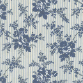 Northport Prints - Cottage Curtains Blue Yardage
