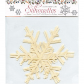 Silhouettes Laser Cut Fusible Appliqué Shapes - White Snowflakes