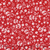 So Ruby - Floral Red Yardage
