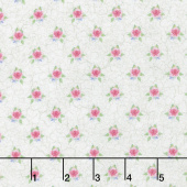 Bunny Love - Mini Floral Spot Cream Yardage