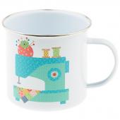 Lori Holt Vintage Happy 2 Enamel Mug
