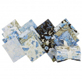 Blue Symphony Metallic Fat Quarter Bundle