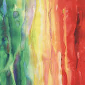 Gradients - Multi Watercolor Rainbow Multi Digitally Printed Yardage
