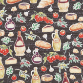 Bella Toscana - At the Tuscan Table Nero Yardage