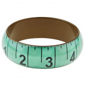 Missouri Star Measuring Tape Bracelet - Wide Aqua