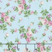 Afternoon in the Attic - Heirloom Floral Sweet Pea Flannel Yardage