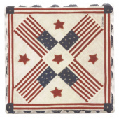 American Quilts Coaster - Flags & Stars