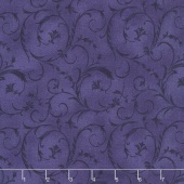 "Beautiful Backings - Elegant Scroll Rich Purple 108"" Wide Backing"