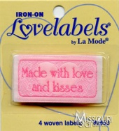 Made With Love & Kisses Iron-On Lovelabels
