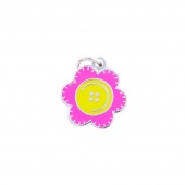 Button Flower Charm by Pin Peddlers