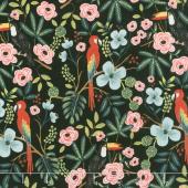 Menagerie - Paradise Garden Midnight Yardage
