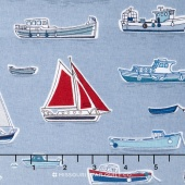 Marina - Boats Grey Yardage