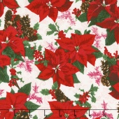 Merry, Berry, and Bright - Holiday Sparkle Radiant Noel Metallic Yardage