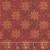 Liberty Star - Starburst Deep Red Yardage