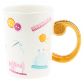 Tape Measure Sewing Mug