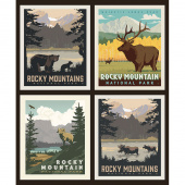 National Parks - Rocky Mountains Pillow Panel