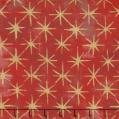 Grunge Seeing Stars - Cherry Metallic Yardage