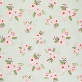 Modern Farmhouse - Main Floral Sage Metallic Yardage