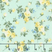 Afternoon in the Attic - Heirloom Floral Daffodil Flannel Yardage