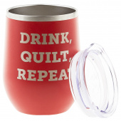 Drink, Quilt, Repeat Tumbler
