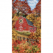 Novelty - Autumn Quilt Barn Panel