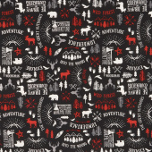 Wild at Heart - Main Black Yardage