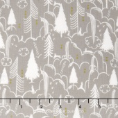 Sleep Tight - Bunny Hill Neutral Metallic Yardage