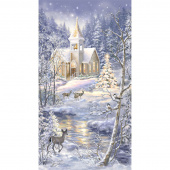 Winter Blessing - Church in Snow Multi Panel