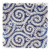 Indigo Patterns Coaster - Fiddleheads