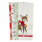 Deer Christmas Towel Set