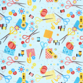 Sew Excited - Sewing Notions Turquoise Yardage