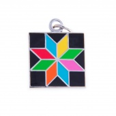Eight Pointed Star Charm by Pin Peddlers