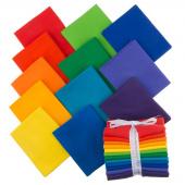 Kona Cotton - Bright Rainbow Palette Fat Quarter Bundle
