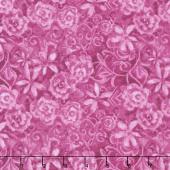 Papillon Parade - Tonal Floral Pink Yardage