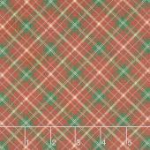 Vintage Christmas - Plaid Red Yardage