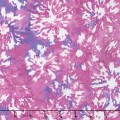 Blossom Batiks - Splash Daisies Fuchsia Yardage