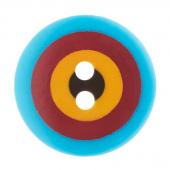 """Kaffe Fassett Button - 5/8"""" Blue Multi Target"""