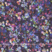 Fiorella - Bloom Burst Midnight Digitally Printed Yardage