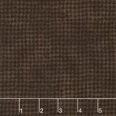 Woolies Flannel - Houndstooth Black Brown Yardage
