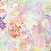 Diaphanous - Celtic Garden Sherbet Digitally Printed Yardage