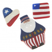 Wooly Trees Button Pack - July 4th