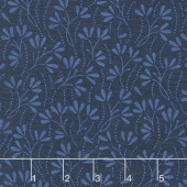 Wilmington Essentials - In the Navy Sprouts Navy on Navy Yardage