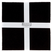 "Fluffy Solids Black Flannel 10"" Squares"
