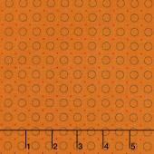 Harvest Moon - Ring of Dots Orange Yardage