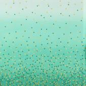 Ombre Confetti - Teal Metallic Yardage
