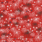 Patriotic Parade - Fireworks Red Yardage