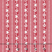 Gretel - Stripe Red Yardage