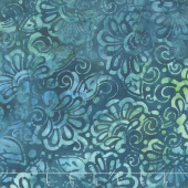 Artisan Batiks - Terrace Flowers Breeze Yardage