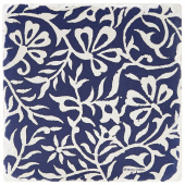 Indigo Patterns Coaster - Floral Vines